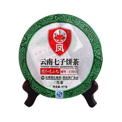 凤牌 2019年云南普洱茶叶生茶饼七子饼茶F7815普洱茶357g