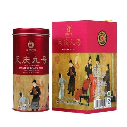 凤牌 2019年红茶 茶叶 云南滇红茶凤庆九号100g听装礼盒夜宴图系列100g