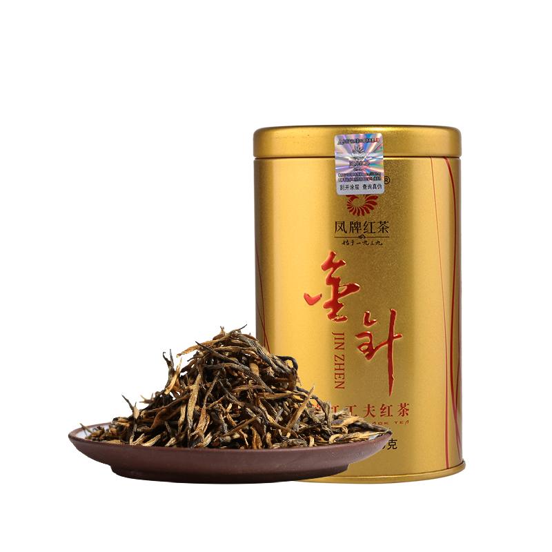 凤牌 2019年红茶 茶叶 云南滇红茶金针金丝金芽茶工夫红茶60g