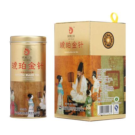 凤牌 2019年红茶 茶叶 云南滇红琥珀金针工夫红茶100g听装礼盒夜宴图系列