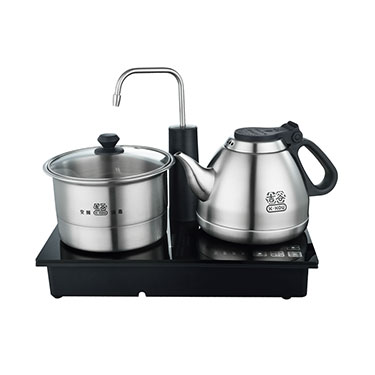 吉谷TC0207电热水壶 304不锈钢茶壶自动上水三合一功夫茶具烧水壶
