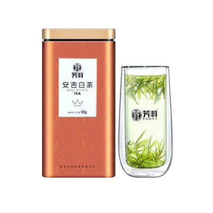 芳羽 2020年安吉白茶 明前精品珍稀高山绿茶正宗春茶叶100g