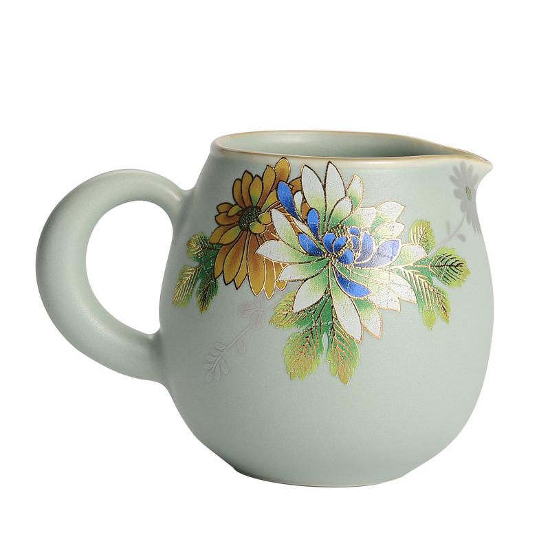 汝窑公道杯茶滤茶漏茶海趴花家用功夫茶具