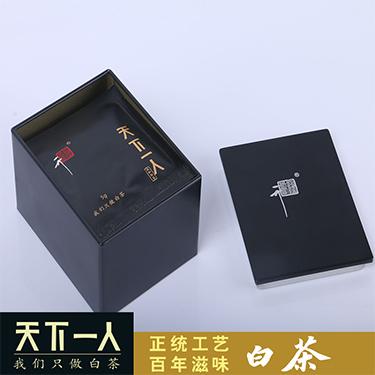 天下一人白茶 2018年高山寿眉饼茶  50克 /盒 独立小袋包装5g*10袋