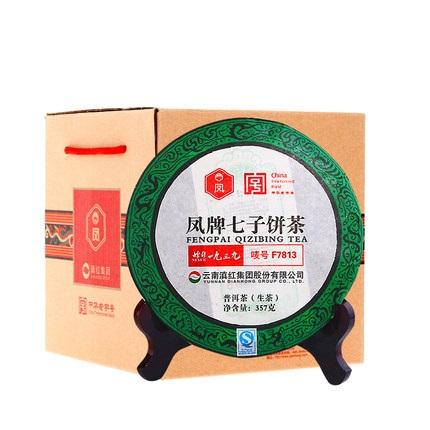 凤牌 2019年普洱茶 茶叶云南普洱生茶F7813七子饼357g