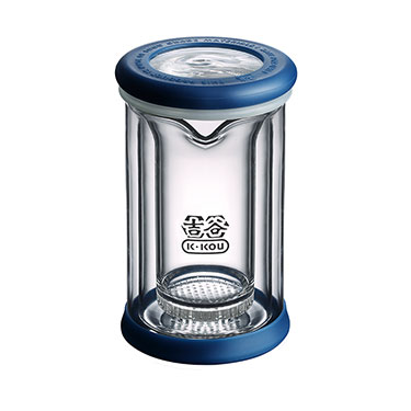 吉谷TY06过滤玻璃杯茶水分离杯双层耐热泡茶杯公道杯300ml