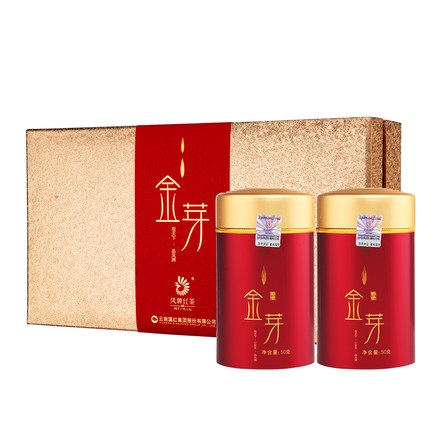 凤牌 2019年红茶 云南滇红红茶金芽茶叶礼盒工夫红茶150g