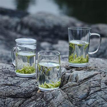 禾器 白瓷玻璃杯系列    玻璃茶杯手工制作