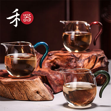 禾器 泓然茶海系列 玻璃公道杯 匀杯功夫茶具手工制作