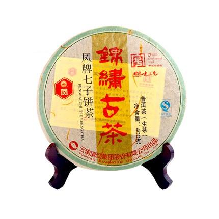 凤牌 2019年云南普洱生茶古树纯料 凤牌锦绣古茶七子饼茶叶400g