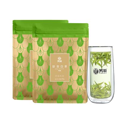 芳羽 2020年新茶正宗安吉白茶开园头采  珍稀白茶 春茶袋装绿茶叶散装250g