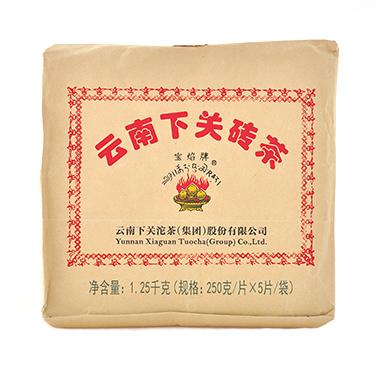 下关 2018年云南普洱茶砖茶 迷你方茶边销砖生茶 250g*5