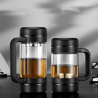 花间道茶水分离泡茶杯办公室大容量创意玻璃杯