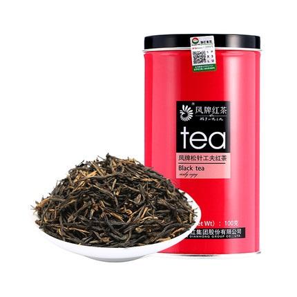 凤牌 2019年红茶 茶叶 云南凤庆滇红茶特级松针工夫红茶罐装100g