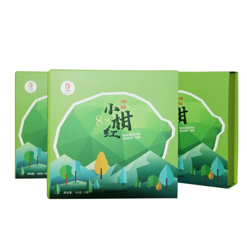凤牌红茶 2019年云南滇红茶正宗新会柑特级水果茶叶小青柑盒装100g