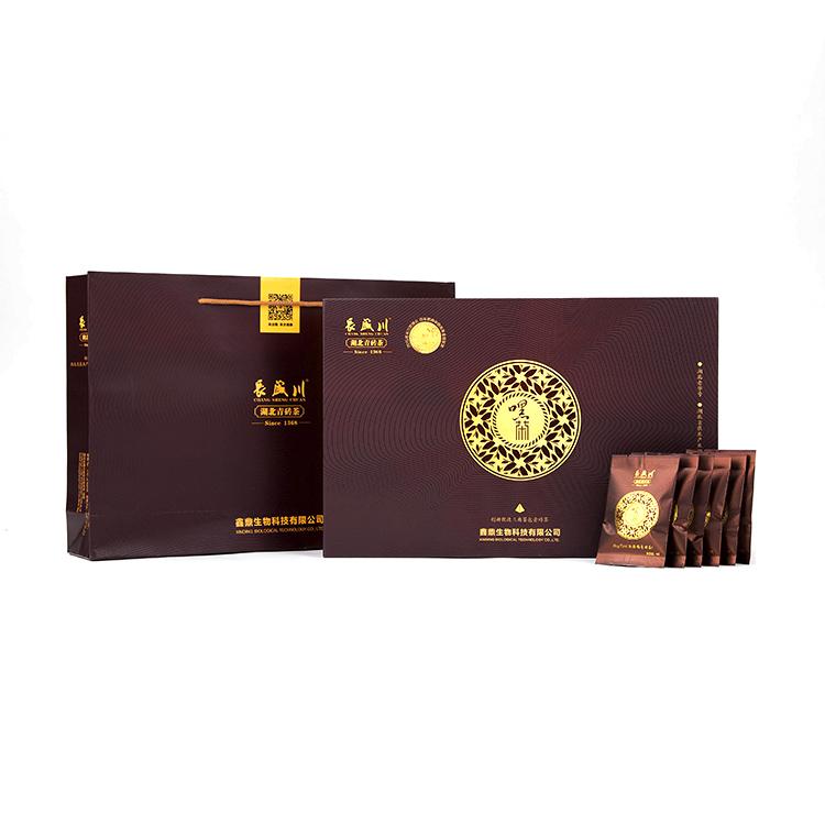 长盛川 2019年黑茶 三角茶包袋泡茶茶叶50包 早餐茶 青砖茶小袋装200g 煮奶茶
