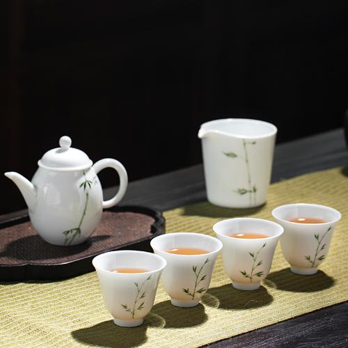 新彩竹子茶具套组