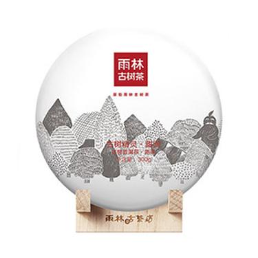 雨林 2016年甜润 3年陈古树普洱茶熟茶饼300g
