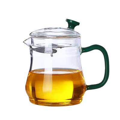 鑫凤祥 茶水分离泡茶壶 月牙不锈钢过滤花茶壶耐高温功夫茶具