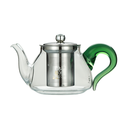 鑫凤祥 玻璃茶壶 高硼硅耐热防炸玻璃花茶壶304不锈钢过滤 450ML