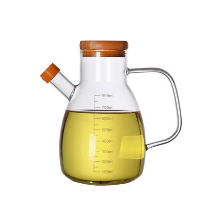 鑫凤祥玻璃油壶防漏油瓶酱油瓶醋瓶家用厨房用品大号倒油神器
