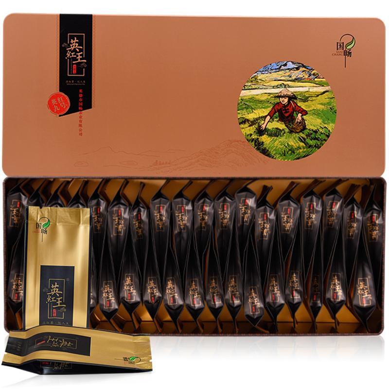 国畅 2019年英德红茶广东特产红茶春茶茶叶英红九号英红王状元礼盒210g