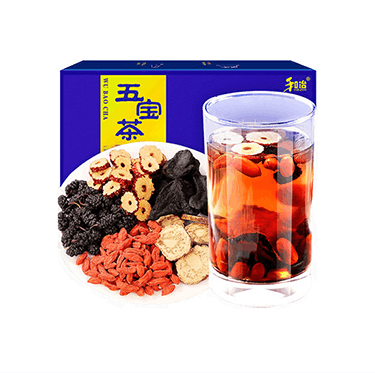 和治 2019年 五宝茶(便携装75g)玛咖黄精红枣桑葚干枸杞养生茶