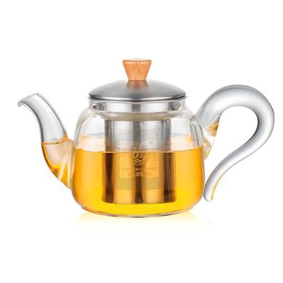 鑫凤祥耐高温四方如意茶壶玻璃花茶壶 功夫茶具