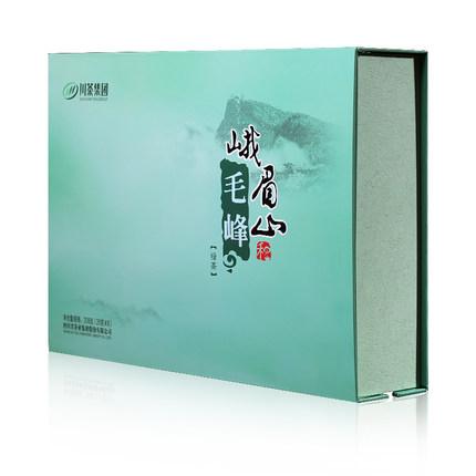 川茶 2020年新茶 四川峨眉山毛峰绿茶 特级叙府茶叶礼盒装208g