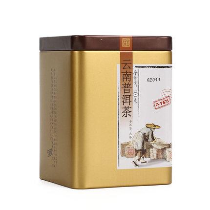 中茶牌 2019年Y671中茶牌云南普洱茶熟茶散茶罐装100g
