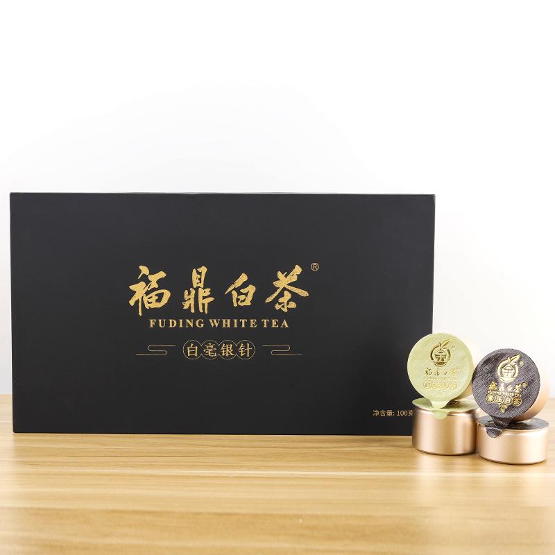 三余茶业 福鼎源产地白茶2008年寿眉老白茶拼2019年高龄老茶树银针各50克