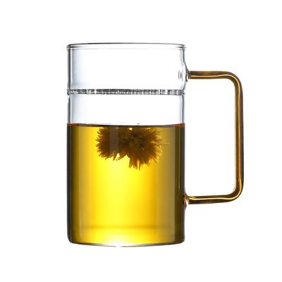 鑫凤祥花茶杯 绿茶杯 月牙杯 耐热过滤玻璃杯