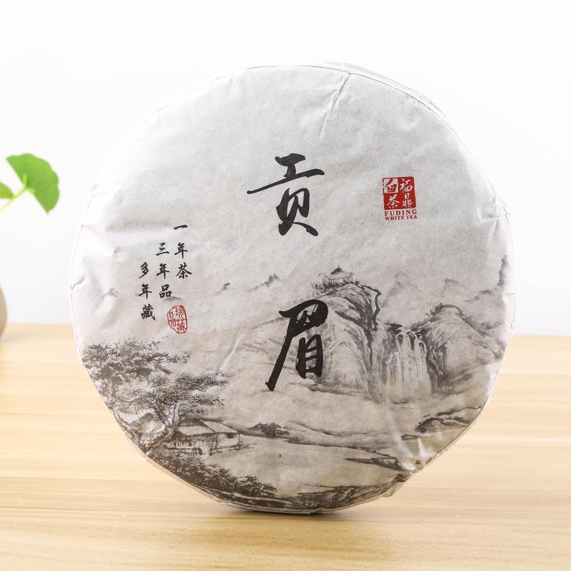 三余茶业 2017年福鼎源产地白琳柴头山贡眉老白茶陈年茶饼350g