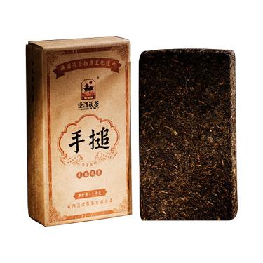 泾渭茯茶 2019年陕西特产 泾阳茯茶砖茶黑茶叶金花伏茶 1kg手搥茯茶