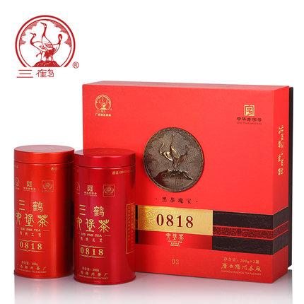 三鹤六堡茶[0818]2011年特级散茶400g礼盒梧州茶厂广西特产黑茶叶