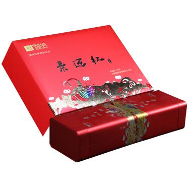 国皓 2019年景迈山古树纯料 景迈红  滇红茶300g 礼盒装