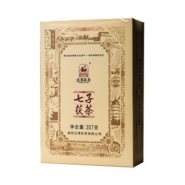 泾渭茯茶 2018年陕西特产 泾阳茯茶砖茶黑茶叶金花伏茶357g七子茯
