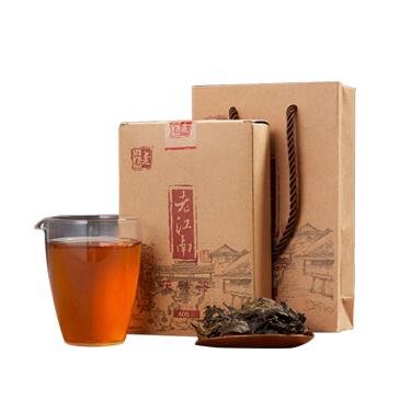 老江南 2015年湖南安化黑茶 茯茶金花手筑茯砖茶叶 江南小金花400g