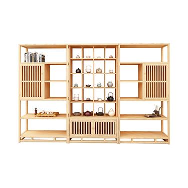清源泓木业 精品展柜 博古架仿古隔断茶叶货架五层左右边柜