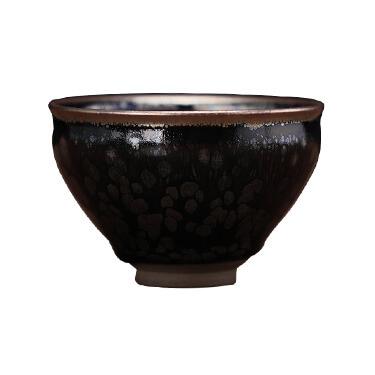 潭古道 建盏   黑牡丹品茗杯