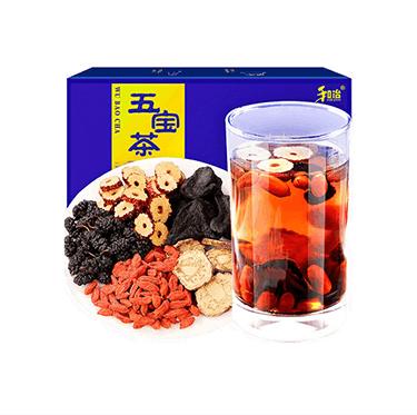 和治 2019年 五宝茶250g男人茶玛咖黄精红枣桑葚干枸杞养生茶