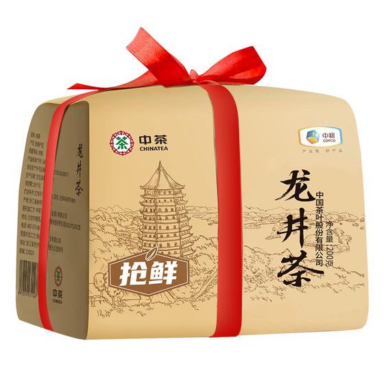 中茶 2020年钱塘龙井茶明前特级绿茶纸包200g