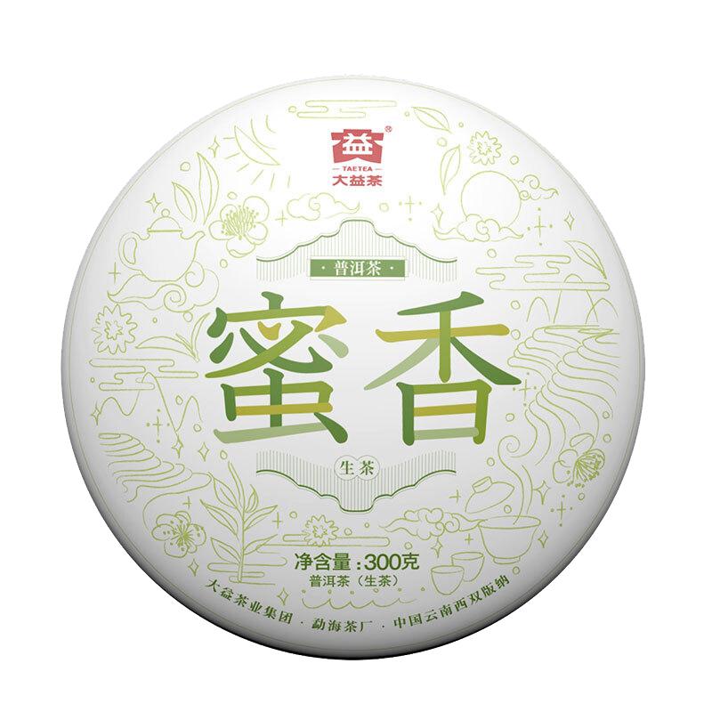【大益】蜜香1901批中华老字号云南普洱生茶饼300g/饼