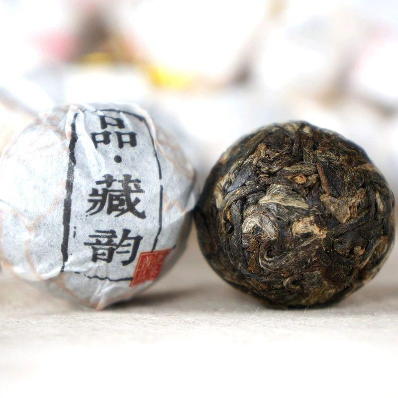 【吾茶善品】品·藏韵普洱生茶2015年古树茶小龙珠生茶5粒装共35g