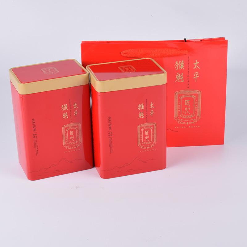 太平猴魁特级双罐礼袋装雨前绿茶安徽太平纯手工工艺250g