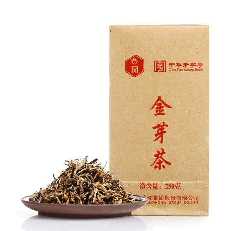 【凤牌】机制单芽金芽茶袋装云南滇红茶250g袋