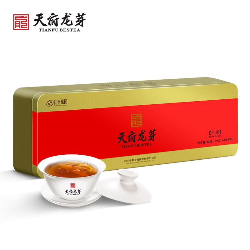 天府龙芽 四川早茶工夫红茶(尊龙)经典礼盒 90g
