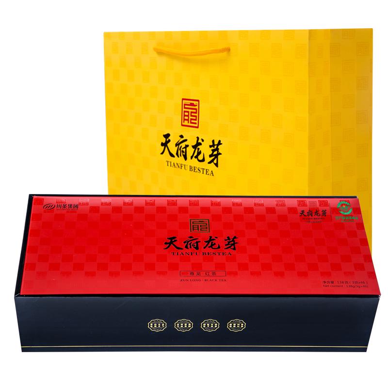 天府龙芽 四川特级金芽工夫红茶(尊龙)经典礼盒 138g
