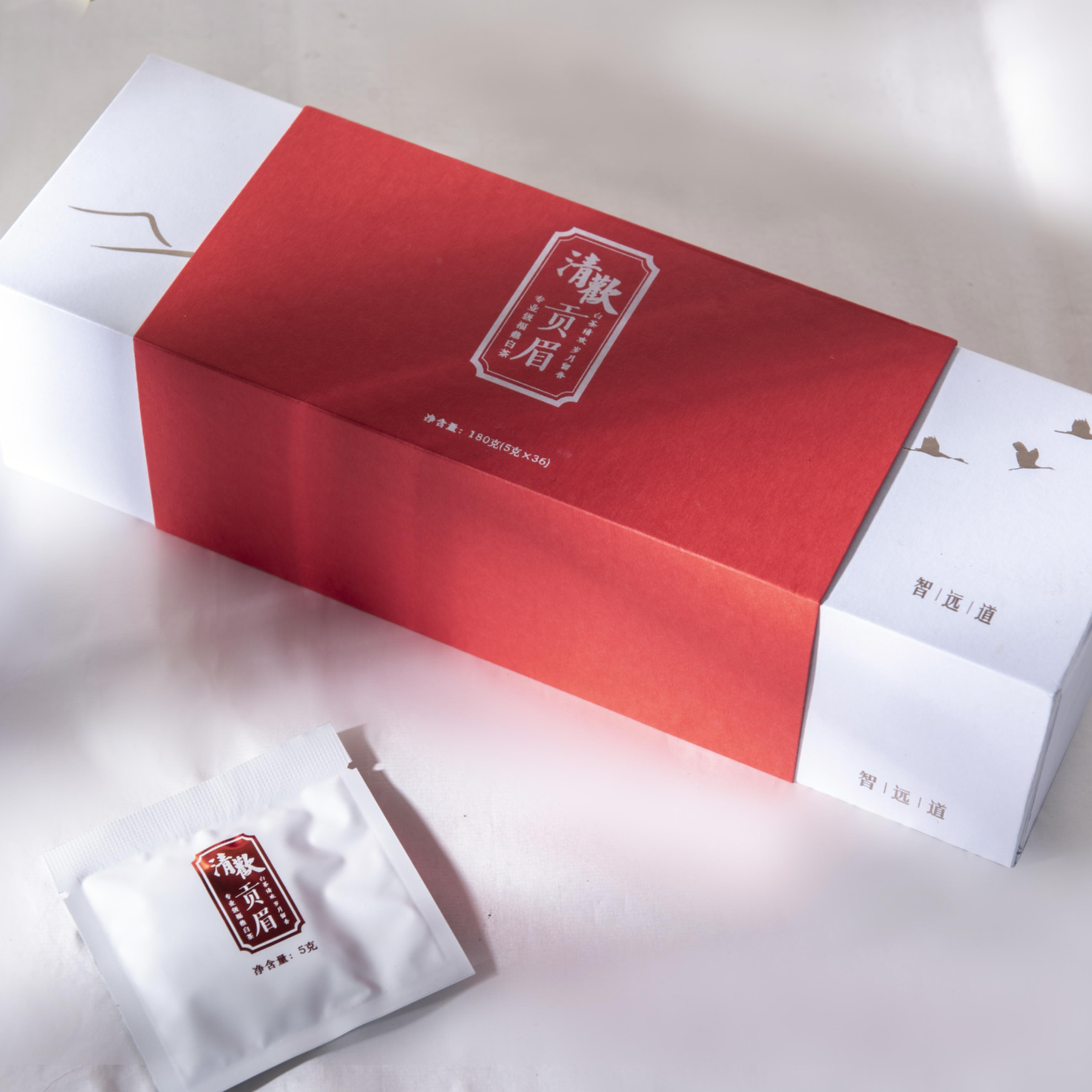 福鼎白茶2017年春贡眉 单片独立包装便携 礼盒装180g