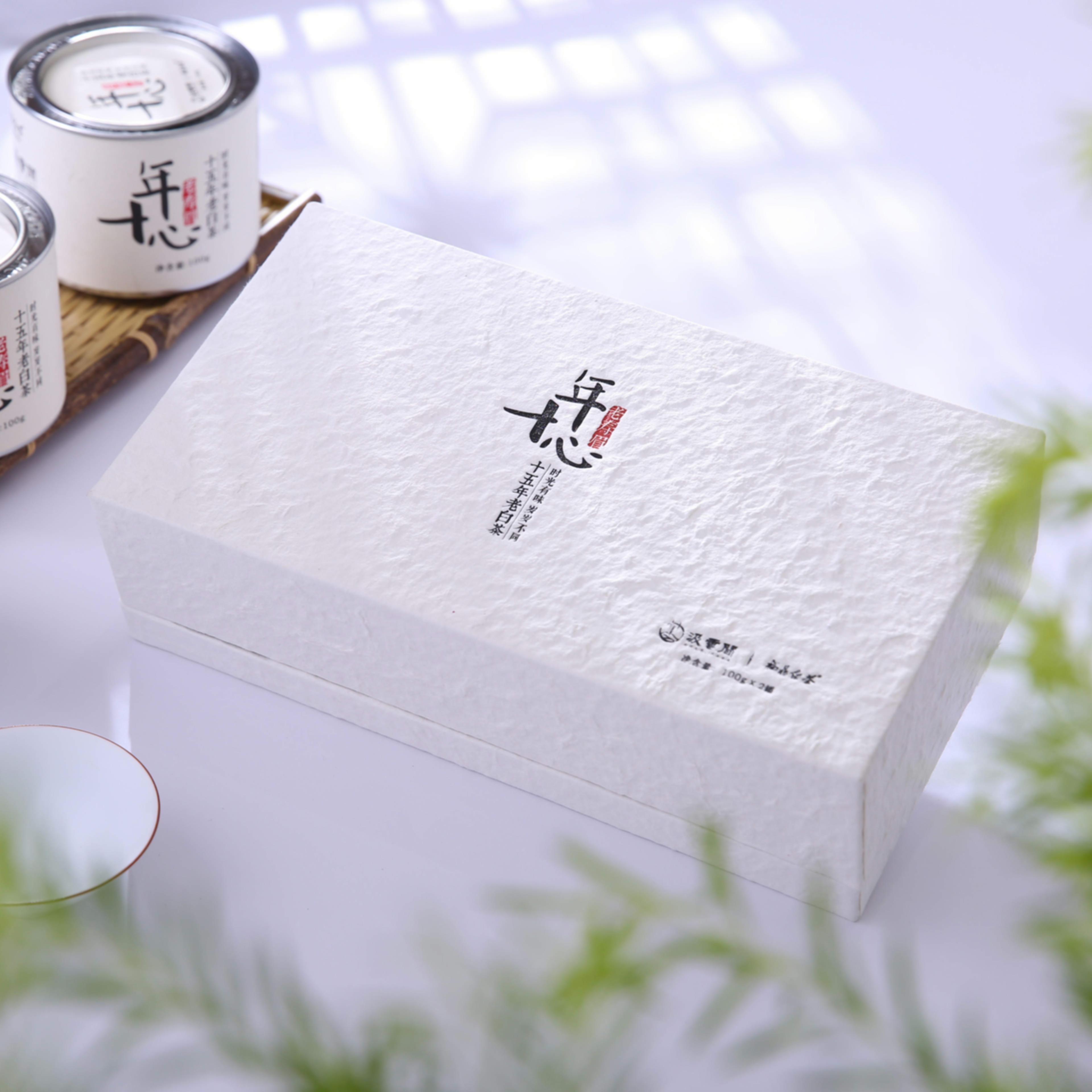 福鼎白茶2008年老白茶 宜煮老白茶 十年心礼盒装200g